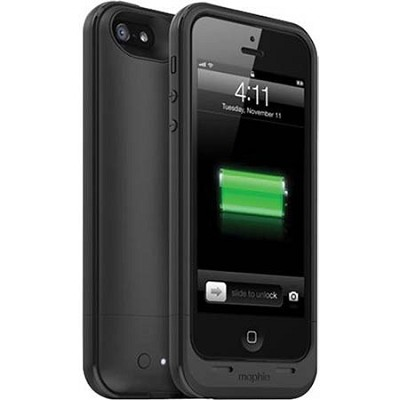 Juice Pack Plus Rechargeable External 2100mAh Battery Case for iPhone 5 (Black)