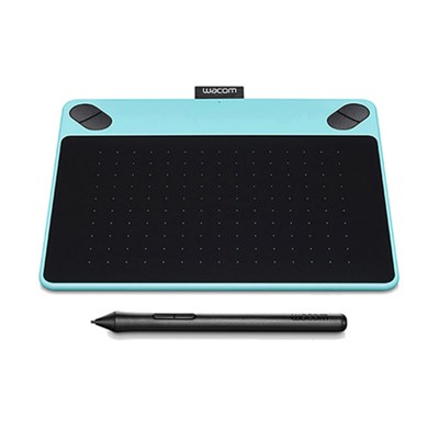 Intuos Draw Creative Pen Tablet CTL490DB- Small Blue - Certified Refurbished