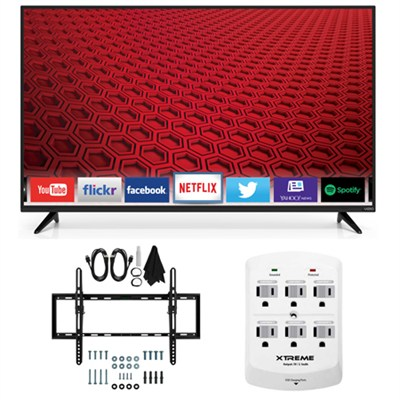 E60-C3 - 60-inch 120Hz 1080p LED Smart HDTV Flat & Tilt Wall Mount Bundle