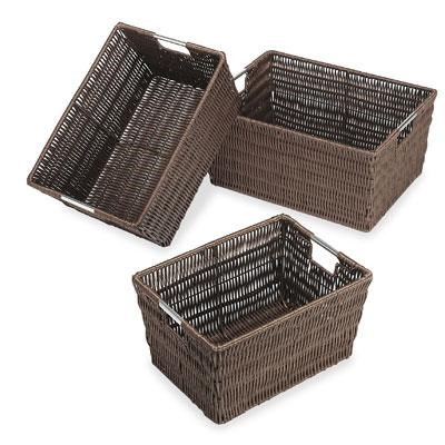 Rattique Baskets Set Of 3 Java