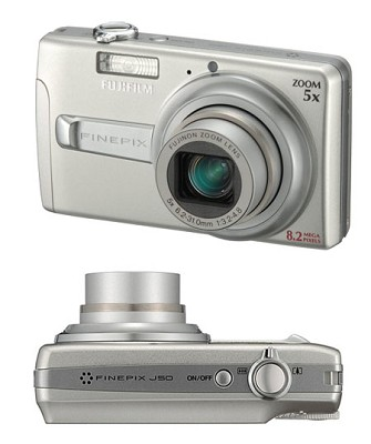 FINEPIX J50 8.2 MP Digital Camera (Silver)