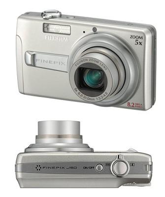 FINEPIX J50 8.2 MP Digital Camera (Silver)
