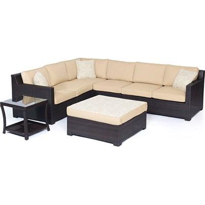 Metropolitan 6-Piece Lounge Set in Sahara Sand - METRO6PC-B-TAN