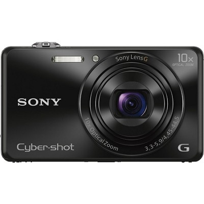 DSC-WX220 Black Compact Point and Shoot Digital Still Camera - OPEN BOX