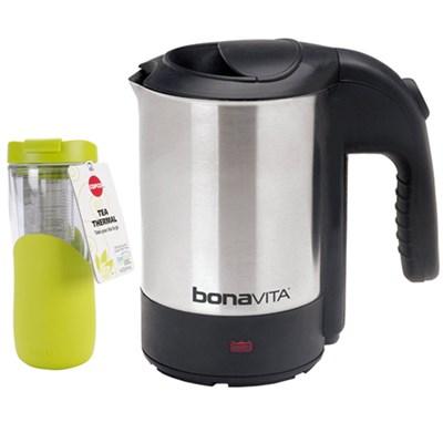 0.5L Mini Electric Travel Kettle w/ Copco 14.oz Tea Thermal Travel Mug