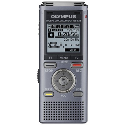 WS-822 Digital Voice Recorder, 4GB Gray