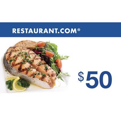 $50 Restaurant.com Gift Card