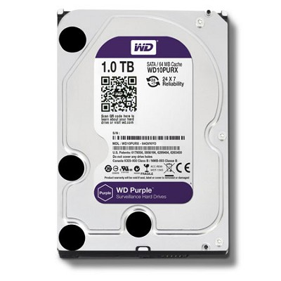 Purple WD10PURX 1TB Surveillance 3.5` Internal Hard Drive