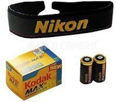 Accessory Kit For Nikon 35mm Cameras - 123A batteries