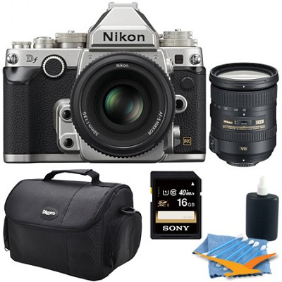 Df Full-Frame Digital SLR Camera with 50mm f/1.8 And 18-200mm Special Edition