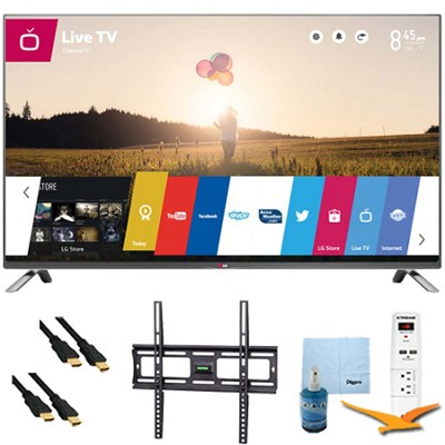 55-Inch 1080p 120Hz Direct LED Smart HDTV Plus Mount & Hook-Up Bundle (55LB6300)