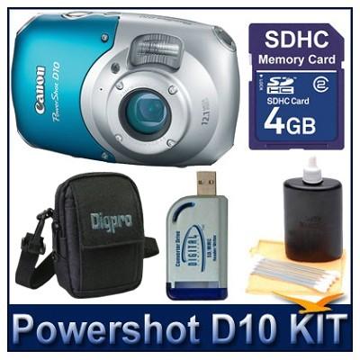 Powershot D10 value Bundle w/ 4GB SD Card, Case & More