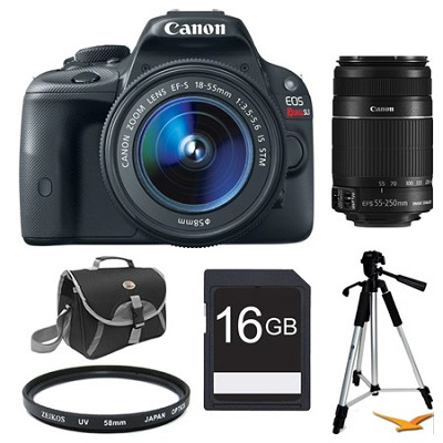 EOS Rebel SL1 SLR Digital Camera EFS 18-55 + 55-250STM Ultimate Rebel Experience