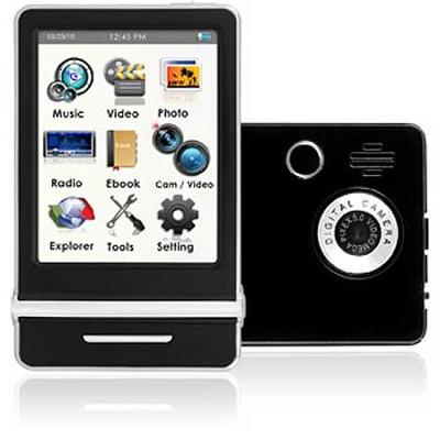 E4 Series - 3` Touch Screen MP3 Video Players 8GB w/ Digital Camera (Black)