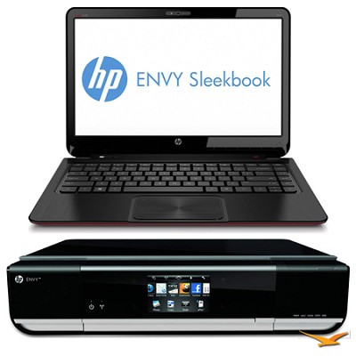 ENVY 14.0` 4-1016nr Sleekbook PC and Envy 114 e-All-In-One Printer