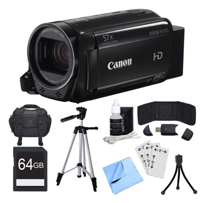 VIXIA HF R70 Camcorder, 64GB Card, and Accessories Bundle