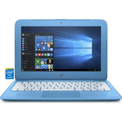 Stream 11-y010nr 11.6` Blue Laptop - Intel N3060 Processor (OPEN BOX)