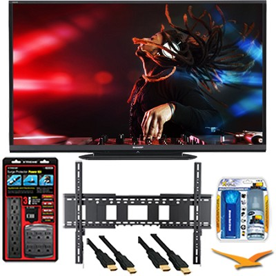 LC-70LE650U Aquos 70-Inch 1080p Wifi 120Hz 1080p LED TV Plus Wall Mount Bundle