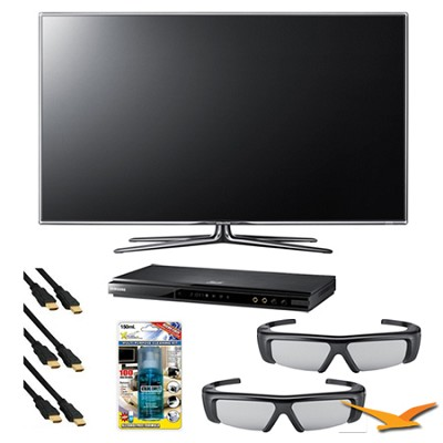 UN46D7000 46 inch 1080p 240hz 3D LED HDTV 3D Kit with Bluray