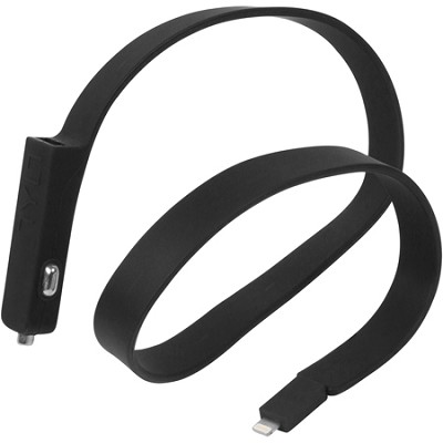 BAND Car Charger Lightning Cable - Black