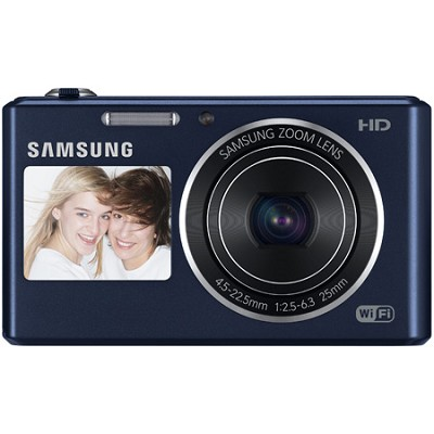 DV150F Dual-View 16.2 MP Smart Camera with Built-in Wi-Fi - Cobalt Black