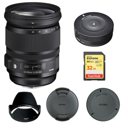 24-105mm F/4 DG HSM A-Mount Lens for Sony 635-205 with USB Dock Bundle