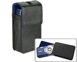 Slim Camera Case Black with blue velvet interior