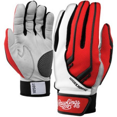 BGP1050T - 1050 Workhorse Batting Gloves, Scarlet, Medium