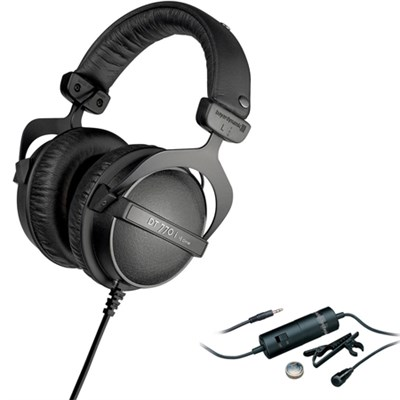 Headphones 16 ohm Headphones - DT 770 i with Audio Technica Clip On Microphone