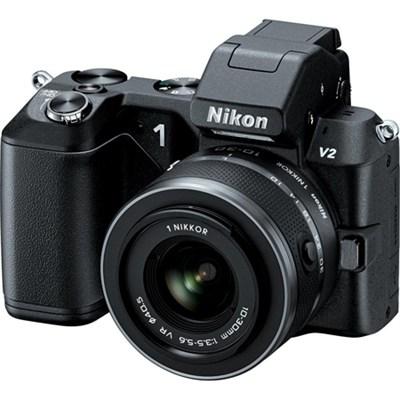 1 V2 14.2 MP HD Digital Camera with 10-100mm VR 1 NIKKOR Lens (Black)
