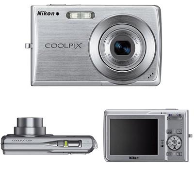 Coolpix S200 Digital Camera (Silver)