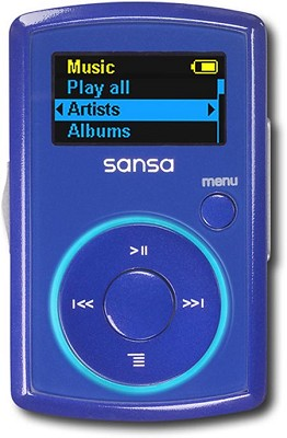 Clip MP3 Player 2GB - Blue