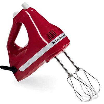 Ultra Power 5-Speed Hand Mixer, Empire Red