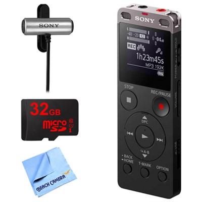 Ux560BLK Digital Voice Recorder w/ 32GB Bundle