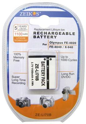 1100mAH Replacement Lithium Battery for Olympus Li-70B
