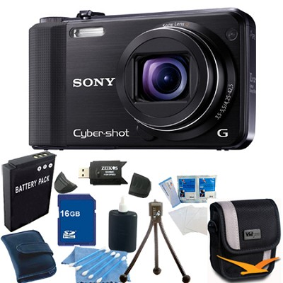 Cyber-shot DSC-HX7V Black Digital Camera 16GB Bundle