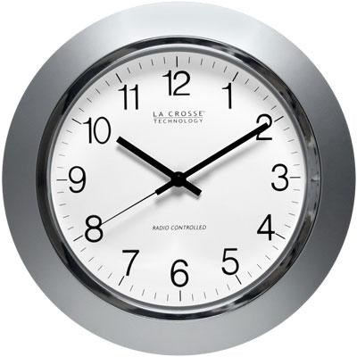 14` Atomic Analog Clock with Silver Frame - WT-3144S