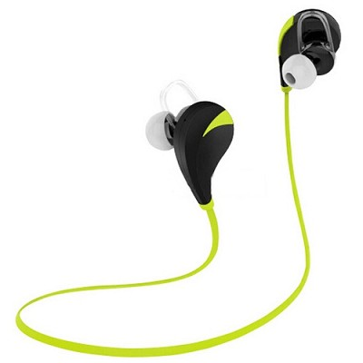 Noise Reduction Wireless Bluetooth Lightweight Sport Headphones w/ Mic - Green