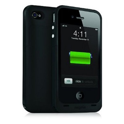 Juice Pack Plus Rechargeable Battery and Case for iPhone4 (Black)