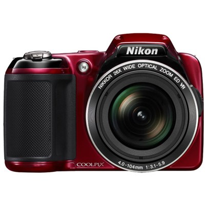 COOLPIX L810 16.1 MP 3.0-inch LCD Digital Camera - Red - Refiurbished