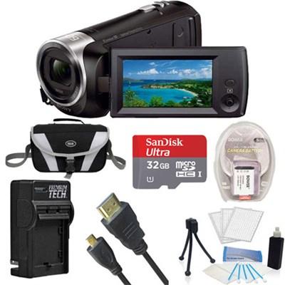 HDR-CX405/B Entry Level Full HD 60p Black Camcorder + 1600MAH, 32GB, Tripod Kit