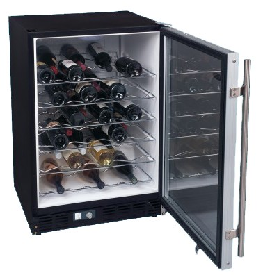 50-Bottle Built-In or Free Standing Wine Cellar (Black)