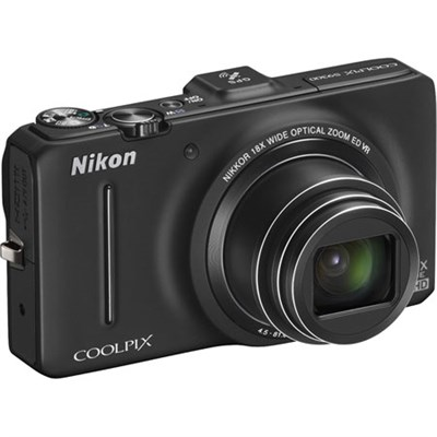 COOLPIX S9300 16MP 18x Opt Zoom 3.0 LCD Digital Camera (Black) - Refurbished