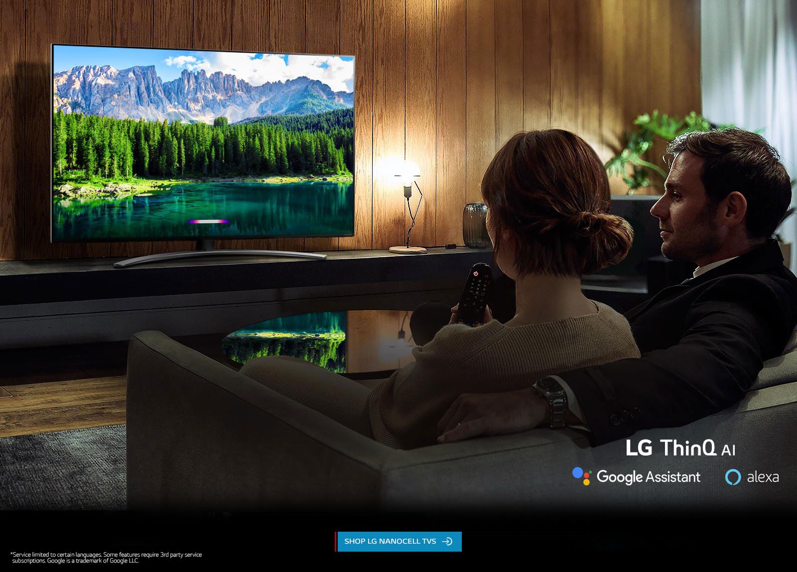 LG NanoCell TV aith LG ThinQ AI