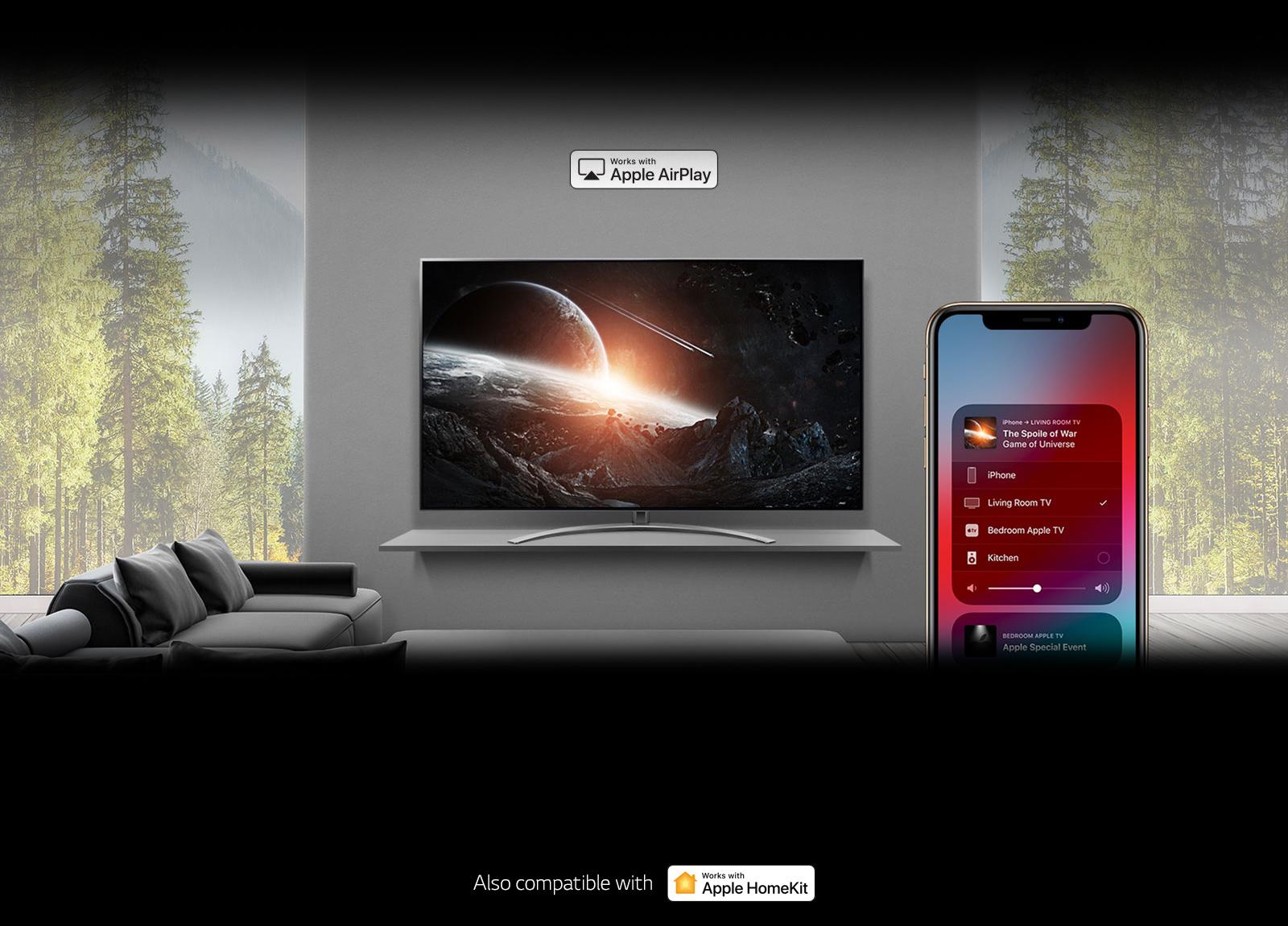 LG NanoCell TV AirPlay